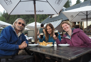 Mit Peter und Gatxi beim Feierabendbier