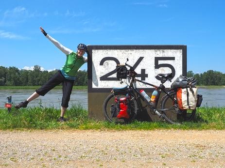 Kilometerzähler des Rheins